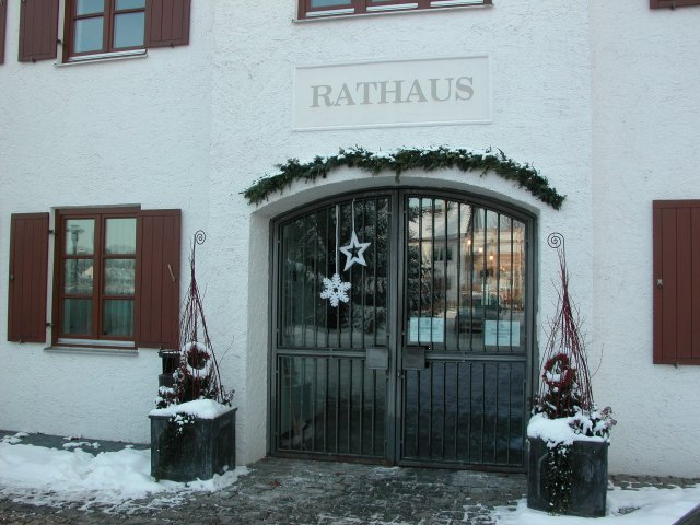 Rathaus Zolling Winter