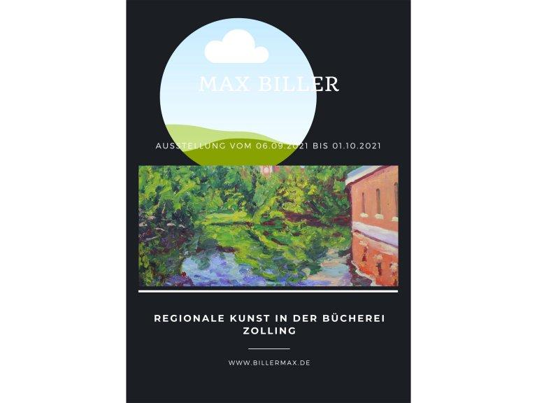 Max Biller - Ausstellung 2021 - Flyer
